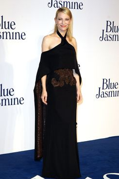 "Cate Blanchett attends the UK premiere of ""Blue Jasmine"" at Odeon West End on September 17, 2013 in London, England."