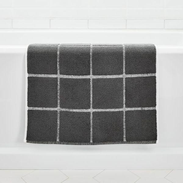 West Elm Organic Tile Sculpted Bath Mat