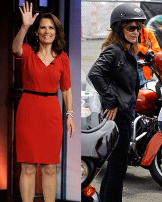 Michele Bachmann and Sarah Palin.