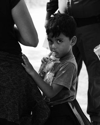 Migrant child.