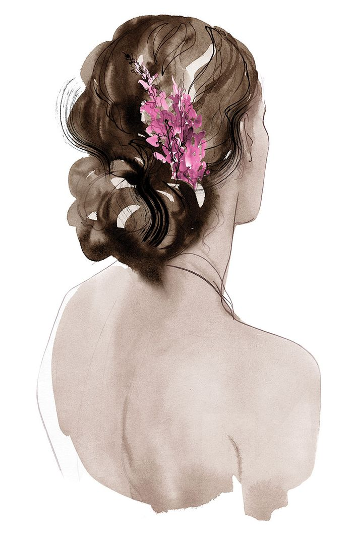5 ways to wear flowers in your hair without looking like a festivalgoer illustration cecilia carlstedt mightylinksfo