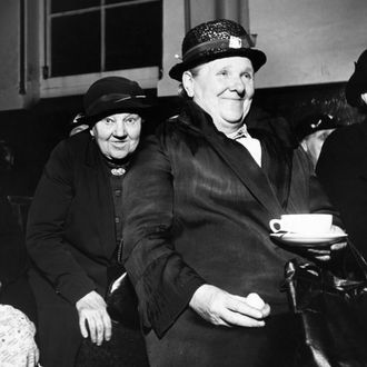 Club Members Enjoying Tea