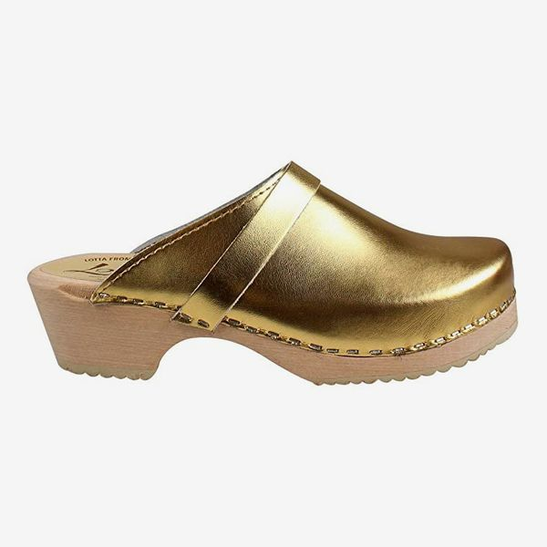 Lotta From Stockholm Swedish Classic Clog in Gold