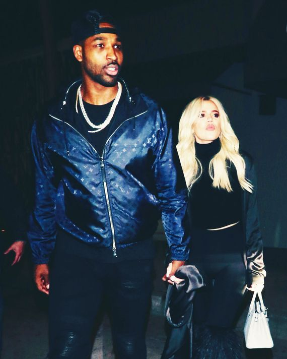 Tristan Thompson and Khloé Kardashian.