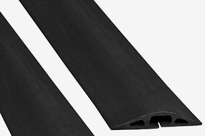 Electriduct D-2 Rubber Duct Cord Cover, Black, 5-Feet Long (2-Pack)