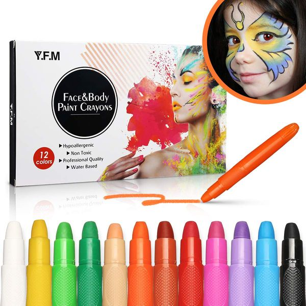 Y.F.M Face and Body Paint Crayons Kit