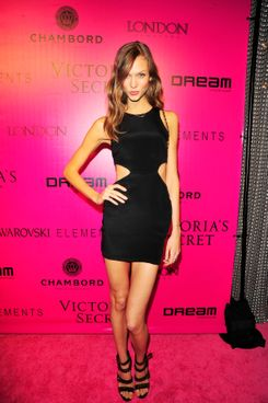 Karlie Kloss==2011 Victoria's Secret Fashion Show After-Party Arrivals==Dream Hotel Downtown N.Y.C.==Nov 09, 2011==? Patrick McMullan==Photo - CHANCE YEH/PatrickMcMullan.com====