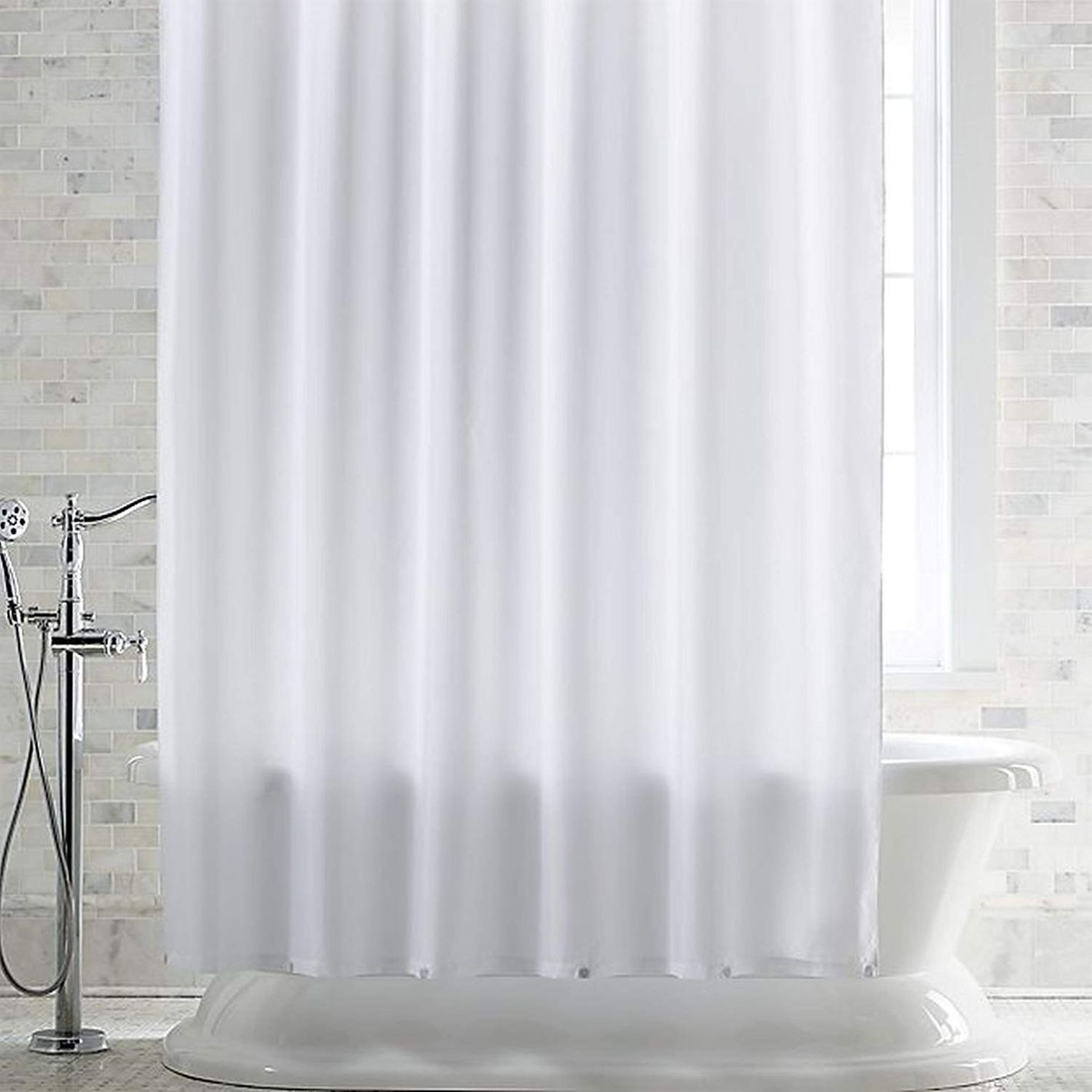 DeLaine's Frosted Shower Curtain Liner