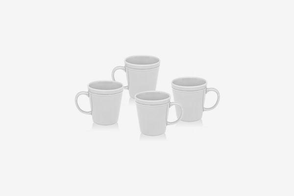 Godinger Chaddsford Set/4 White Mugs
