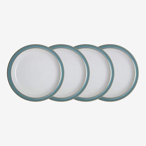 Denby Azure 4 Piece Medium Plate Set