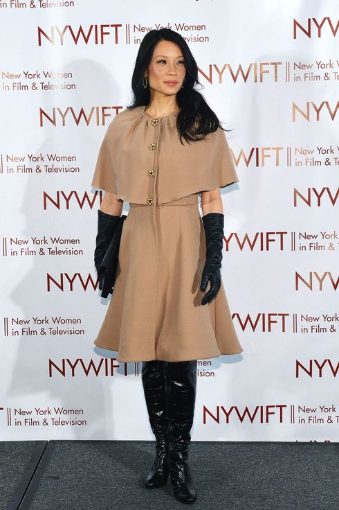 Actress Lucy Liu attends 2012 New York Women In Film And Television Muse Awards at New York Hilton – Grand Ballroom on December 13, 2012 in New York City.