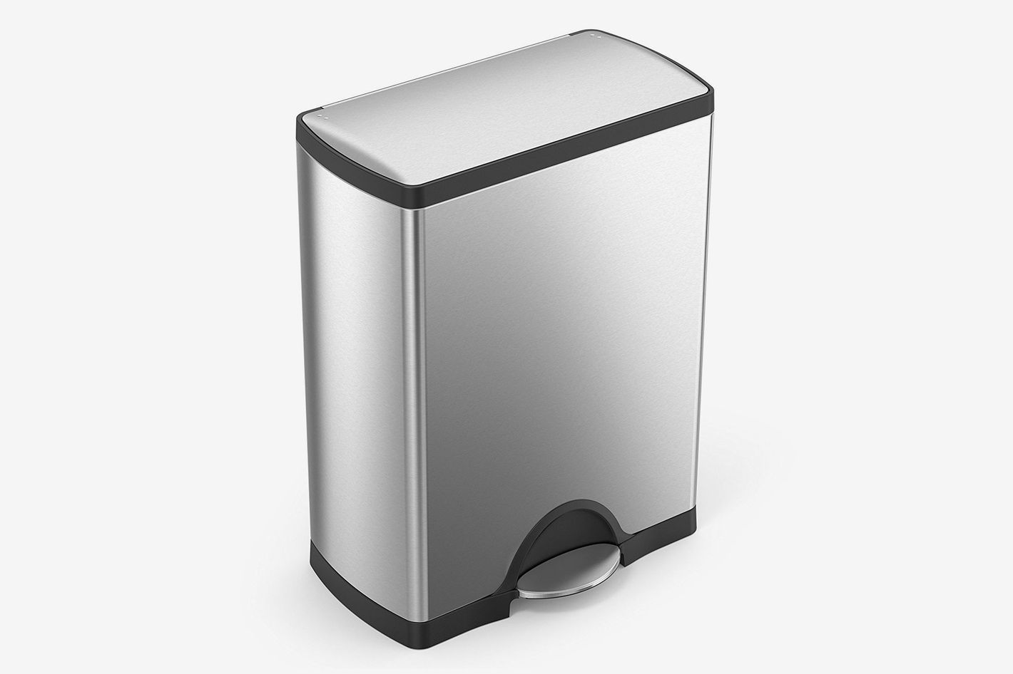 Superbe Simplehuman 50 Liter / 13.2 Gallon Stainless Steel Rectangular Kitchen Step Trash  Can, Brushed Stainless