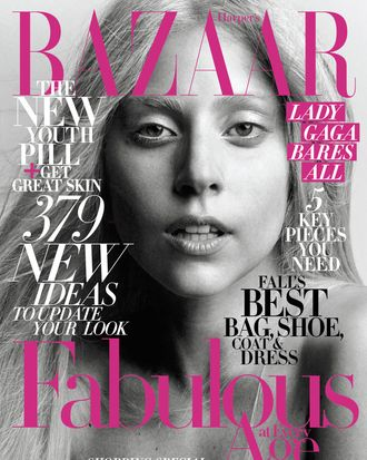 Lady Gaga for the October issue of <em>Harper's Bazaar</em>.