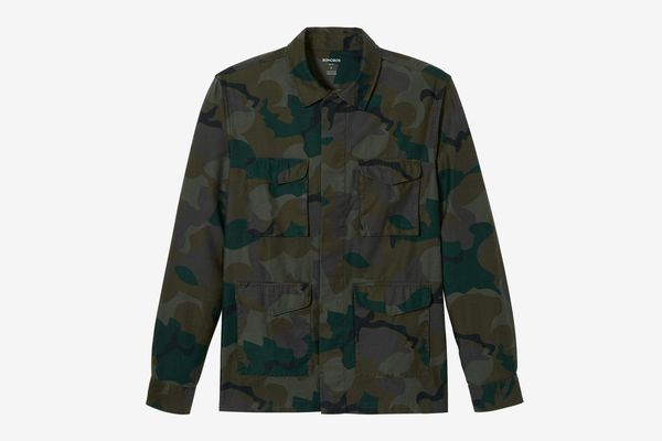 Men's Slim Fit Military Jacket, Camo