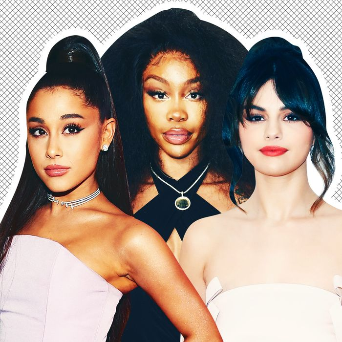 Ariana Grande, SZA, Selena Gomez.