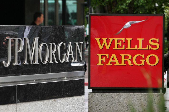 JPMorgan Chase & Wells Fargo signs
