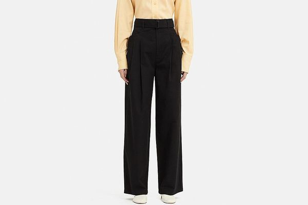 Women U High-Waist Two Tucked Pants