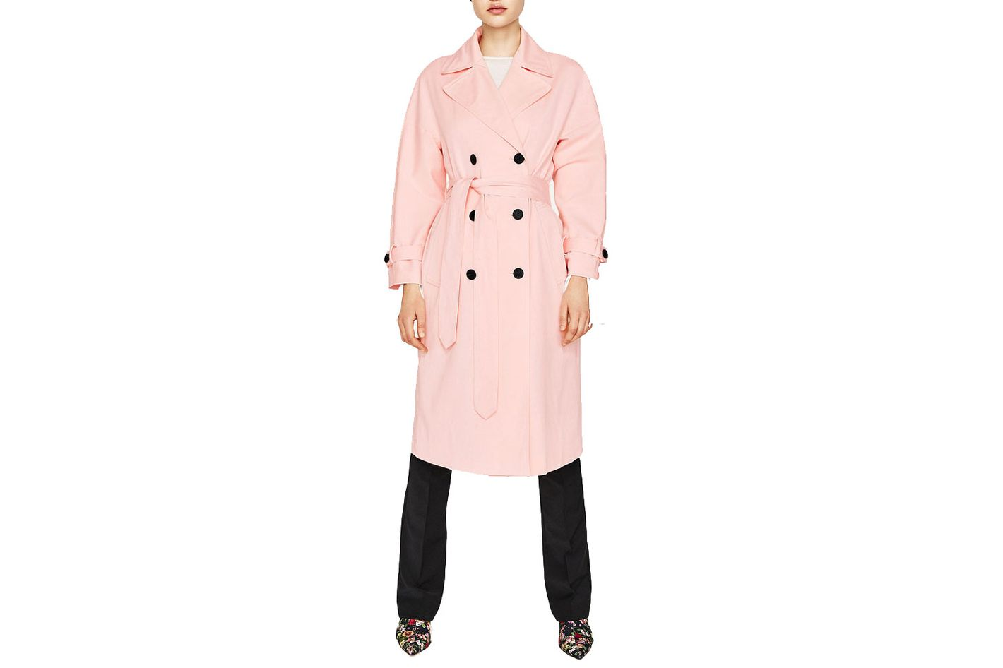 Zara bell-sleeve trench coat