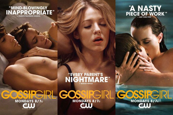 In One Of The Most Ingenious Instances TV Marketing Recent Memory Gossip Girl Continued Its Sexualized Aesthetic By Pairing Horrified Reviews With