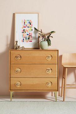 Carraway Three-Drawer Oak Dresser