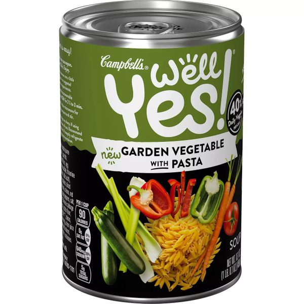 Campbell's Well Yes! Vegetable Noodle Soup Lightly Salted