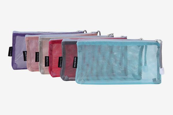 Sea Team Portable Travel Toiletry Pouch Nylon Mesh