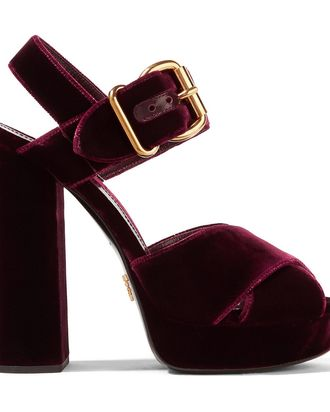 d047bb1fe9e1 I did a literal double take the first time I saw Prada s velvet platform  sandals. I was in a big hurry