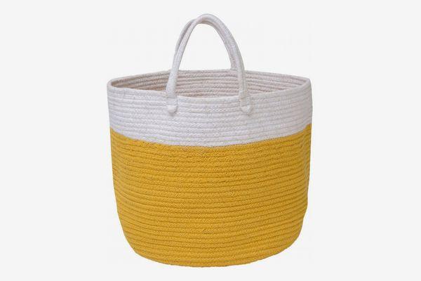 Waggo Dipped Color Storage Bin Mustard