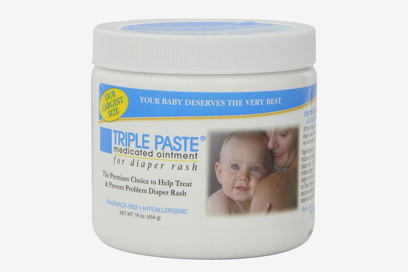 Triple Paste Medicated Ointment for Diaper Rash — Fragrance Free — 16 oz