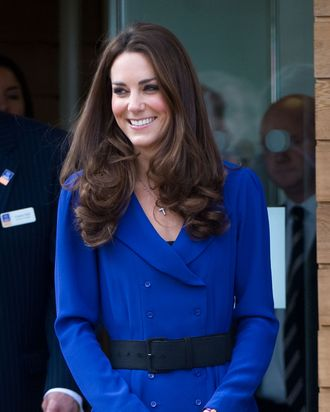 IPSWICH, ENGLAND - MARCH 19: Catherine, Duchess of Cambridge arrives to officially open The Treehouse Children's Hospice on March 19, 2012 in Ipswich, England. (Photo by Samir Hussein/WireImage)