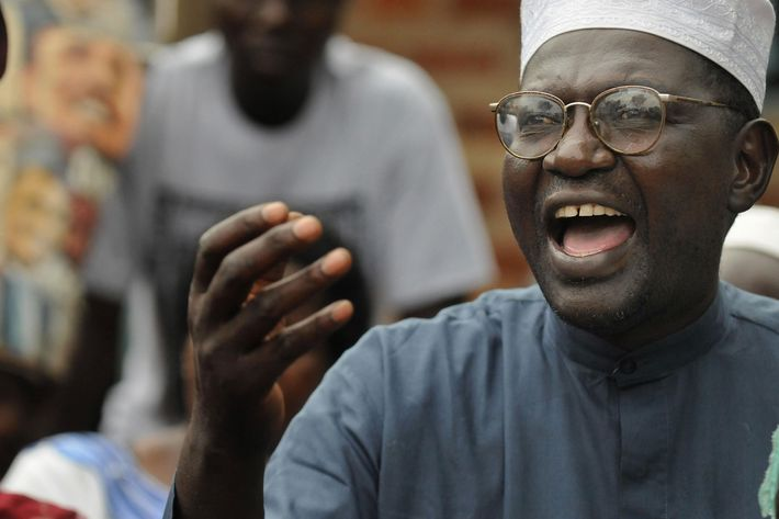 Malik Obama, half-brother of America's President elect, Barack Obama smiles November 05, 2008 at his Kogelo village residence where he gave a press conference following news that his brother had been elected President.