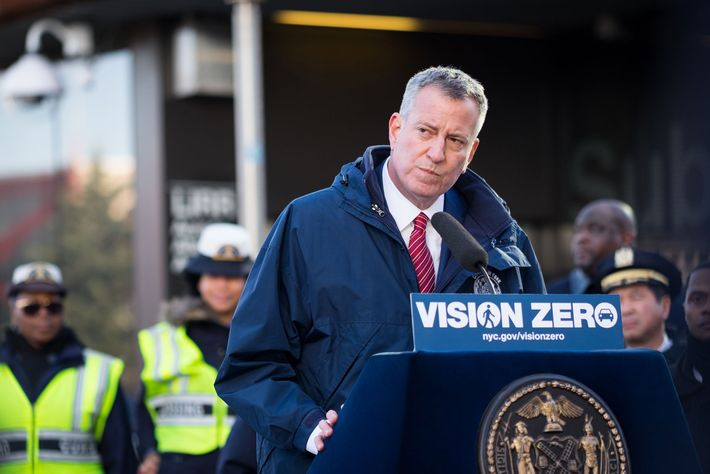 Image NYC Recorded Its Lowest Selection of Site visitors Deaths in 2016 NYC Recorded Its Lowest Selection of Site visitors Deaths in 2016 24 bill de blasio vision zero