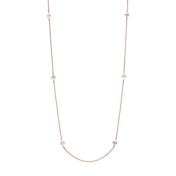 Tiffany T Two Diamond and Mother-of-pearl Necklace