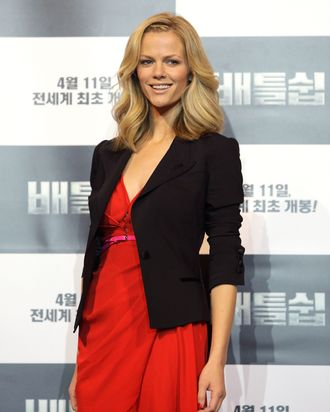 Actress Brooklyn Decker attends the 'Battleship' Press Conference on April 5, 2012 in Seoul, South Korea. The film will open on April 11 in South Korea.