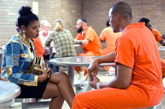 "EMPIRE: Taraji P. Henson as Cookie Lyon and Terrence Howard as Lucious Lyon in the ""The Devils Are Here"" Season Two premiere episode of EMPIRE airing Wednesday, Sept. 23 (9:00-10:00 PM ET/PT) on FOX.  ©2015 Fox Broadcasting Co. Cr: Chuck Hodes/FOX."