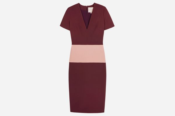 Roksanda Color-Block Woven Midi Dress