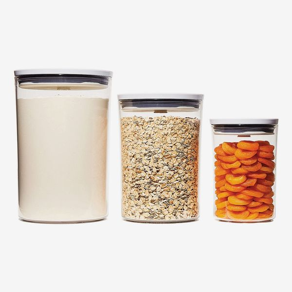 OXO Good Grips Round Pop Graduated Food Storage Canisters, Set of 3