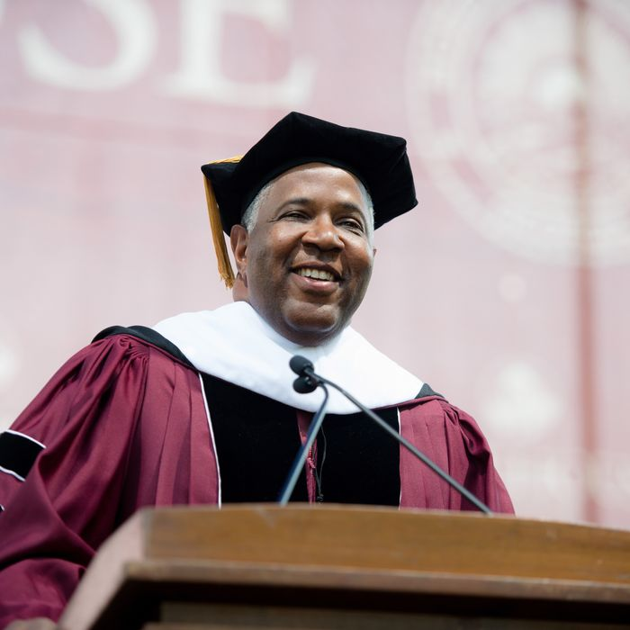 ATLANTA, GEORGIA - MAY 19: Robert F. Smith gives the commencement address during the Morehouse College 135th Commencement at Morehouse College on May 19, 2019 in Atlanta, Georgia. (Photo by Marcus Ingram/Getty Images)