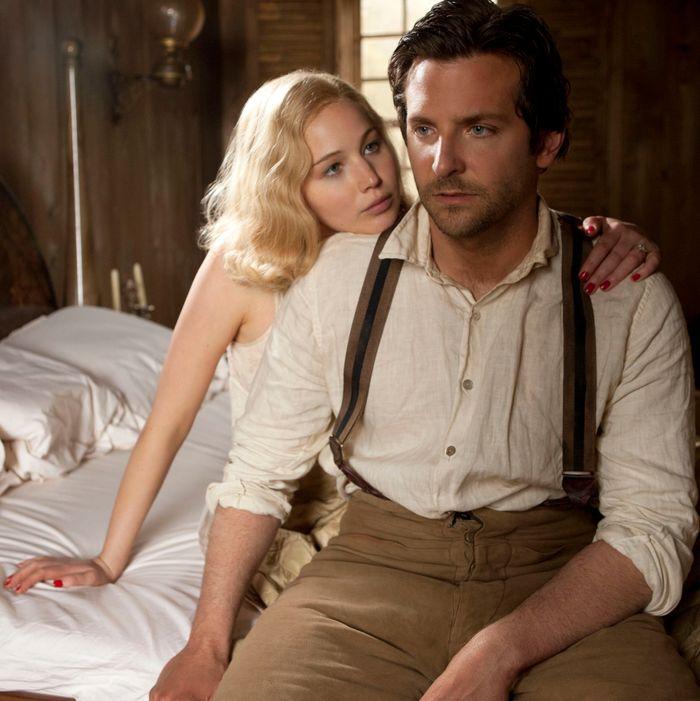 Jennifer Lawrence and Bradley Cooper