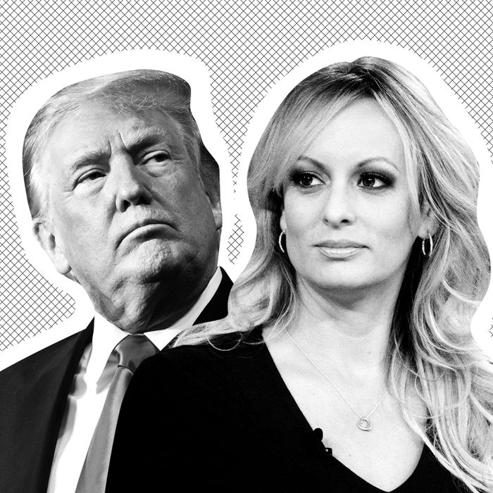 Donald Trump and Stormy Daniels.