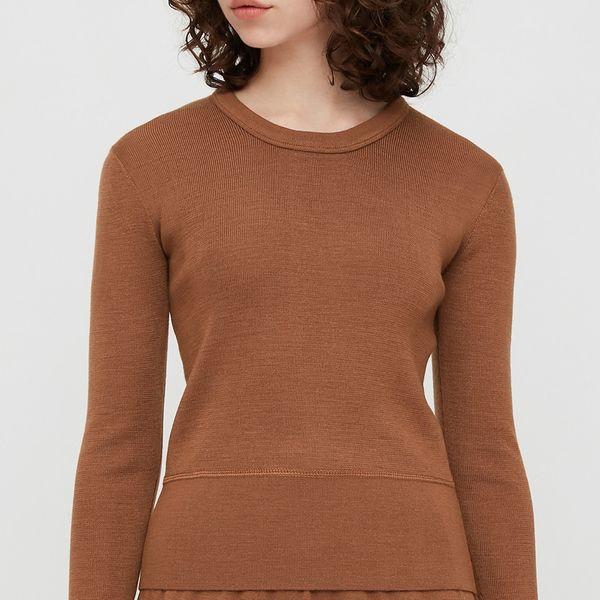 Uniqlo Women U Merino-Blend Crew Neck Sweater