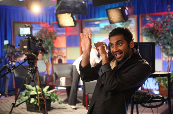 "PARKS AND RECREATION -- ""Born & Raised"" Episode 403 -- Pictured: Aziz Ansari as Tom Haverford -- Photo by: Danny Feld/NBC"