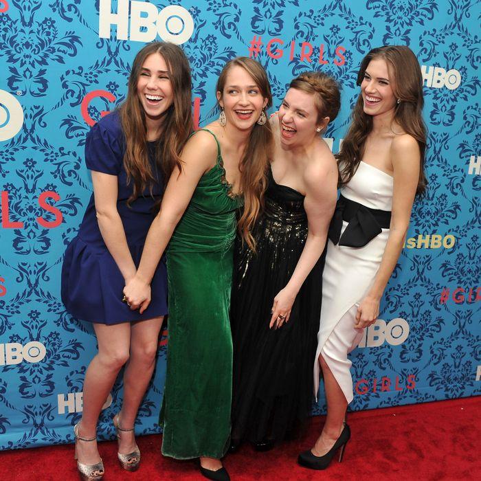 From left: Zosia Mamet, Jemima Kirke, Lena Dunham, and Allison Williams.