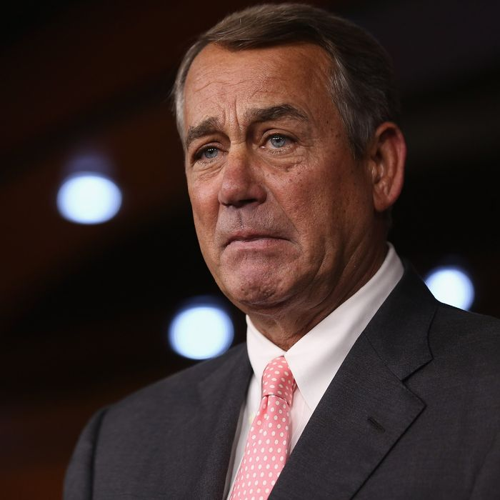 House Speaker John Boehner Announces His Resignation At The Capitol