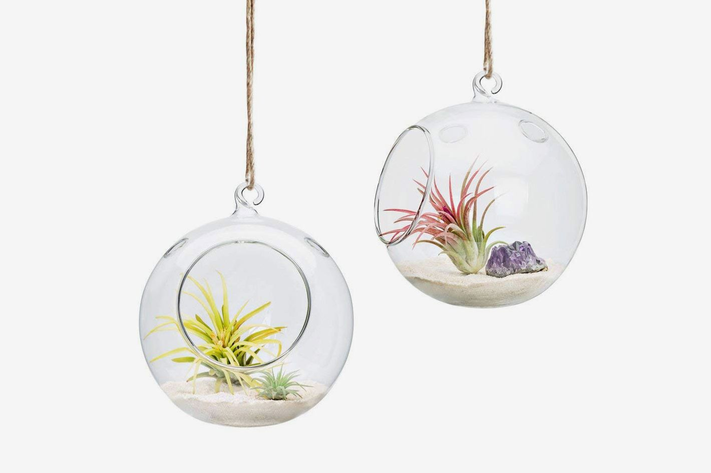 Mkono 2 Pack Glass Hanging Planter