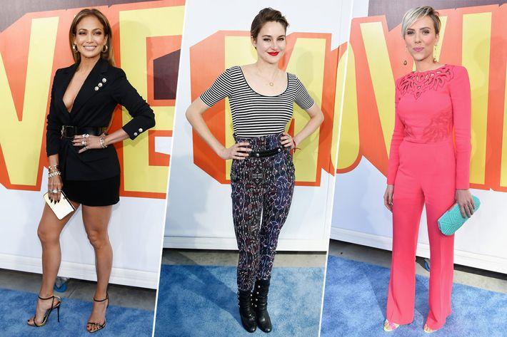 Jennifer Lopez, Shailene Woodley, Scarlett Johansson.
