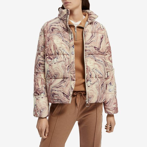 Scotch & Soda Marbleized Puffer Jacket