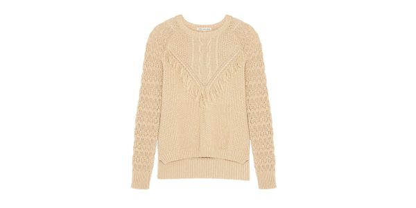 Autumn Cashere Fringed Sweater