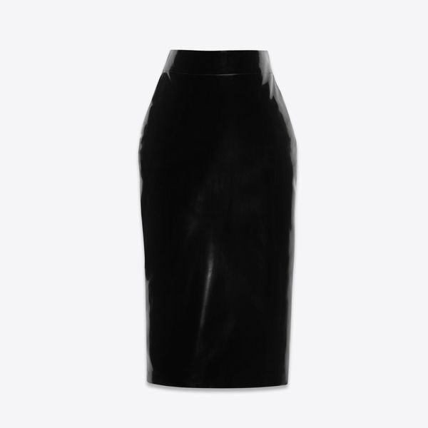 YSL Latex Pencil Skirt