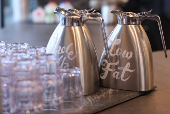 Even the milk jugs are charming.